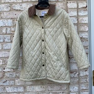 Lilly Pulitzer Cream Brown Quilted Jacket S